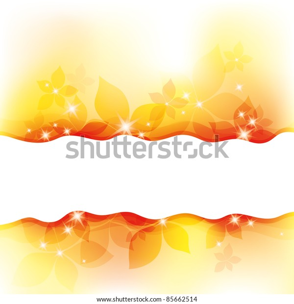 autumn abstract background with beautiful white sparks