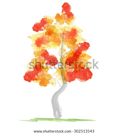 Autumn abstract tree