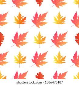 Autumn background. Yellowed maple leaves.  illustration.