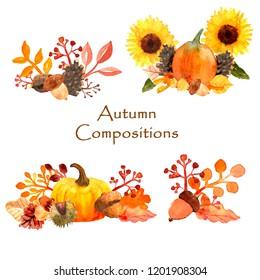 Autumn Dreams Watercolor Compositions