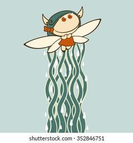 Autumn fairy (raster version)