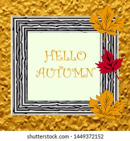 Autumn frame  and background for design