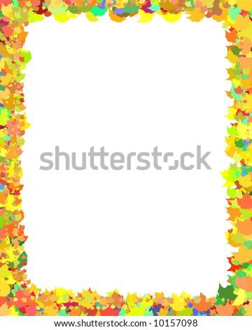Autumn Leaf Frame High Resolution Digital Stock Illustration ...