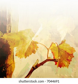 autumn vine leaves background