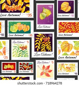 Watercolor Postage Stamp Images, Stock Photos & Vectors