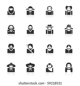 Avatar icons (multicultural)  - minimo series