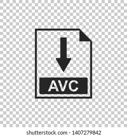 AVC file document icon. Download AVC button icon isolated on transparent background. Flat design