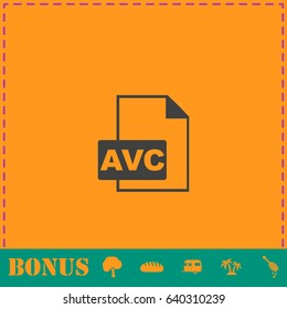 AVC icon flat. Simple illustration symbol and bonus pictogram