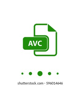 AVC Icon Illustration.  Flat green pictogram on white background