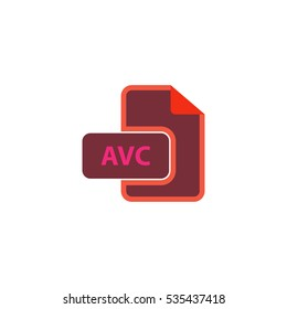 AVC Icon Illustration. Flat simple color pictogram