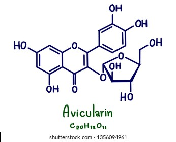 Avicularin is a bio-active flavonol isolated from a number of plants including Polygonum aviculare, Rhododendron aureum and Taxillus kaempferi.
