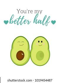 Avocado pun: You're my better half