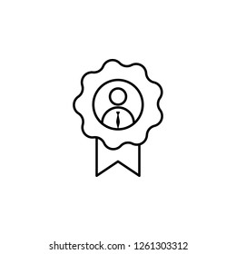 Award, employee, worker icon on white background. Can be used for web, logo, mobile app, UI, UX