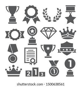 Awards-Symbole auf weißem Hintergrund