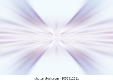 Awesome abstract zoom motion background artwork. Illustration with colorful rays and smooth swooshes of light blue violet pink purple mauve color. Interesting movement effect backdrop wallpaper