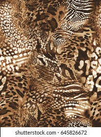 awesome animal mix print ~ seamless background
