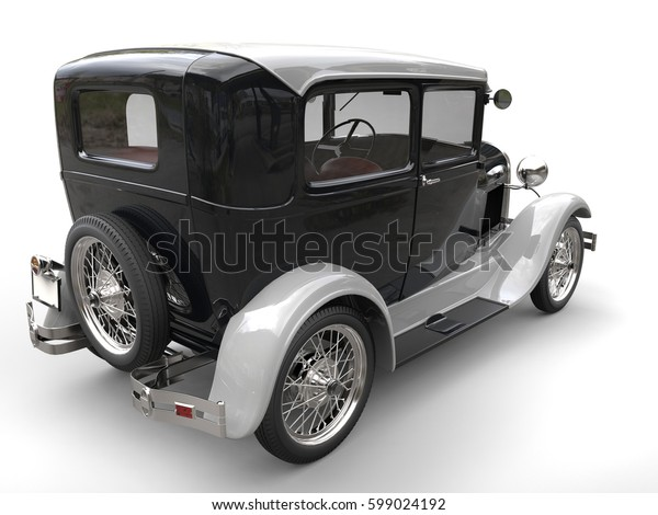 Awesome vintage two tone car - 3D Render