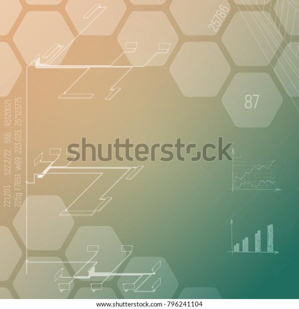 Axonometric Diagram Heating Illustration Industry Hvac Stock