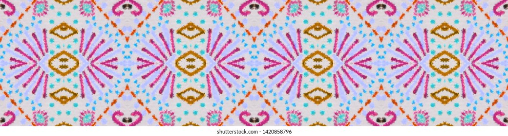 Aztec pattern. Seamless african print. Mexican design. Indian motif. Folk patchwork. Folk motif. Boho texture. Line geometric print. White, pink, cyan, black, green aztec pattern.