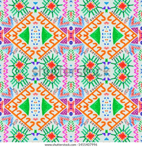 Aztec Pattern Seamless African Print Vintage Stock Illustration