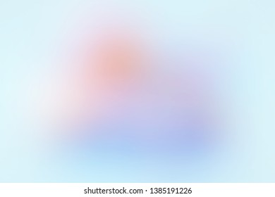 Azure aqua blue mauve pink orange blurry gradient. Blended abstract background image with uniform stylish degrade smooth transition. Modern template for advertising announcement, ad or graphic design