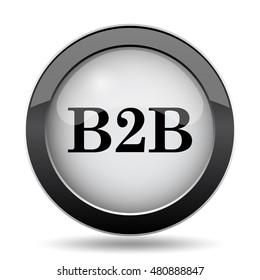 B2B icon. Internet button on white background.