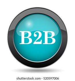 B2B icon. B2B website button on white background.