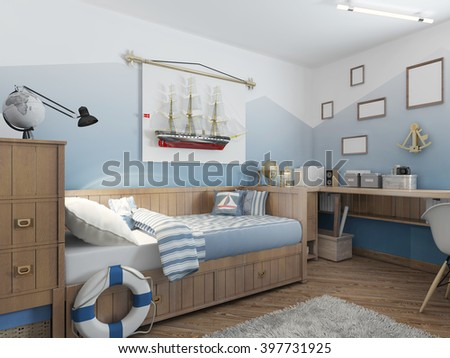 Baby Bed Young Teenager Ship Style Stock Illustration 48 Amazing Best Way To Ship Furniture Decor