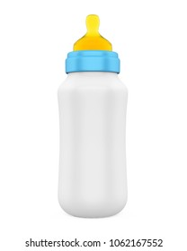 Baby Bottle Isolated. 3D rendering