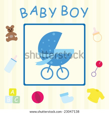 Baby Boy Congratulations Card Stock Illustration 23047138 - Shutterstock
