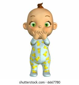 Baby Cartoon Surprised