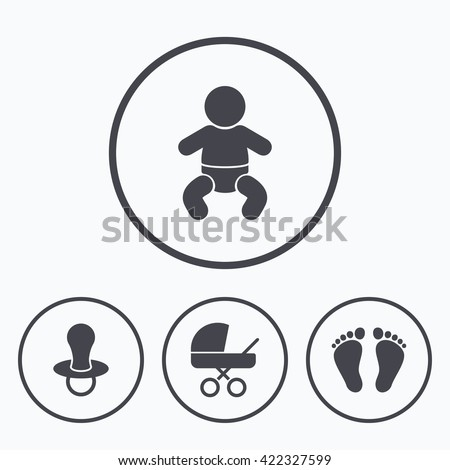 Royalty Free Stock Illustration Of Baby Infants Icons Toddler Boy