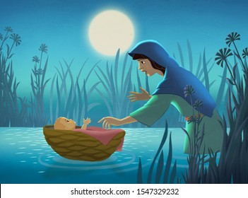 Baby moses in the ark