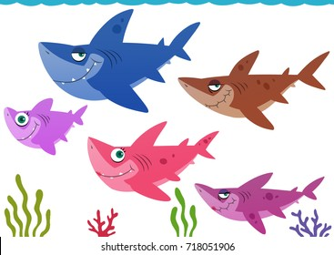 Baby Shark and Family Hunt Together