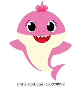 Baby Shark Girl pink fun