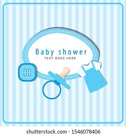 Baby Shower Card . Invitation.