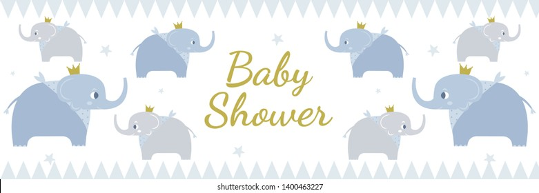 Baby shower elefant theme banner