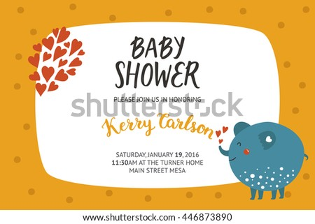 baby shower girl boy invitation templates stock illustration