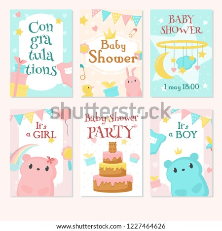 Royalty Free Stock Illustration Of Baby Shower Invitation Greeting