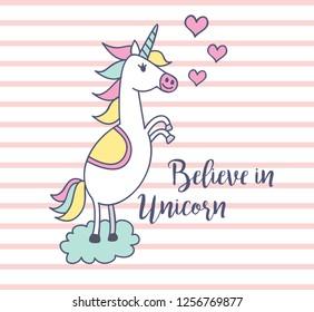 baby t shirt design with unicorn