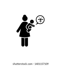 Baby, zika, aedes, woman icon. Element of aedes mosquito and dengue icon. Premium quality graphic design icon. Signs and symbols collection icon for websites, web design