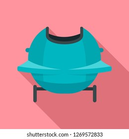 Back bobsleigh icon. Flat illustration of back bobsleigh icon for web design