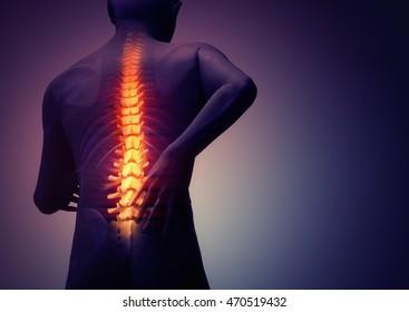 back pain, 3D illustration