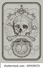 Back Playing cards illustration