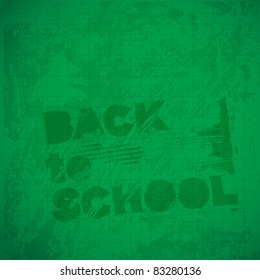 back to school background (raster version of vector artwork)