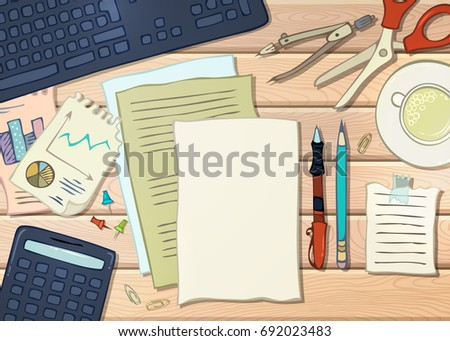 back school template school supplies stationery stock illustration