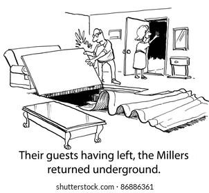 Back underground.