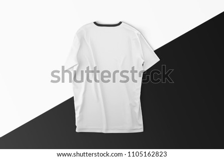 back white blank t shirts mockup black stock illustration royalty
