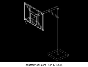 Backboard  3D renderings