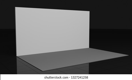 Backdrop 2x4 meters. 3d rendering mockup. Template for your design art